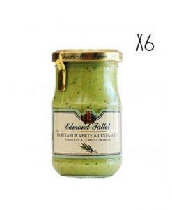 Dijon Mustard with tarragon Edmond Fallot 6 jars of 210 g.