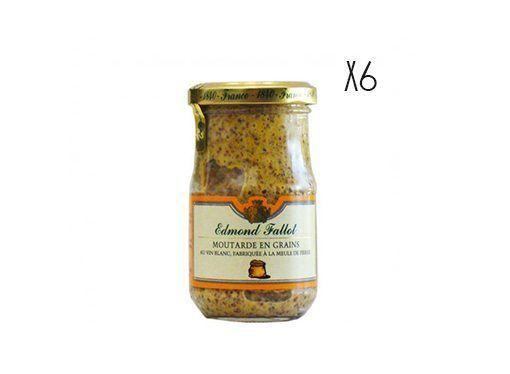 Mostaza en grano Edmond Fallot 205 g 6 tarros de 205 g.