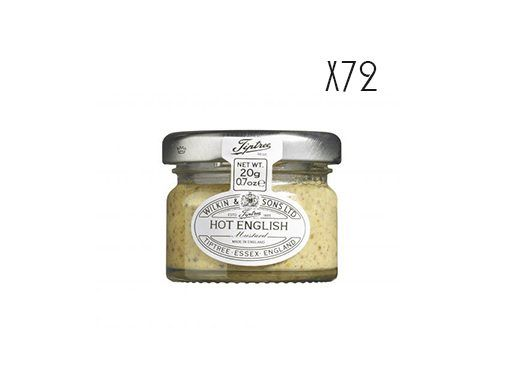 Mostaza inglesa en grano Tiptree 72 tarros de 20 g.