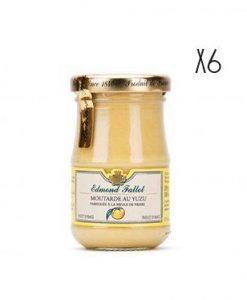 Dijon Mustard with yuzu Edmond Fallot 6 jars of 105 g.