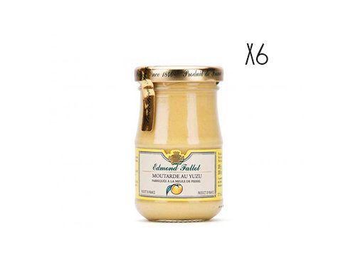 Mostaza Dijon al yuzu Edmond Fallot 6 tarros de 105 g.