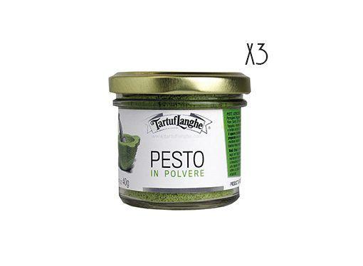 Pesto liofilizado 3 tarros de 25 g.