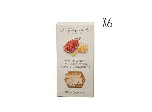 Crackers de aceite de oliva virgen extra, higos y miel The Fine Cheese