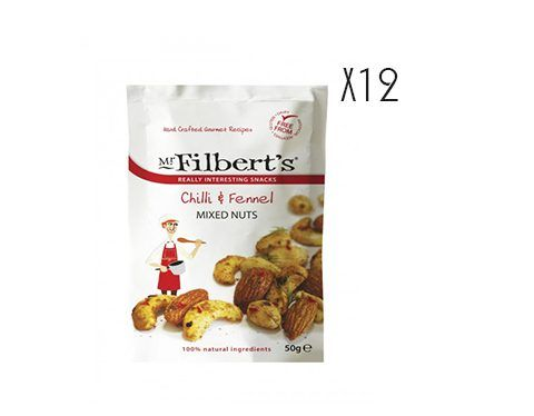 Mezcla de frutos secos con chili e hinojo Mr. Filber'ts