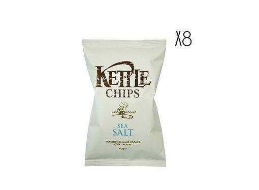 Patatas fritas con sal marina Kettle 150 g