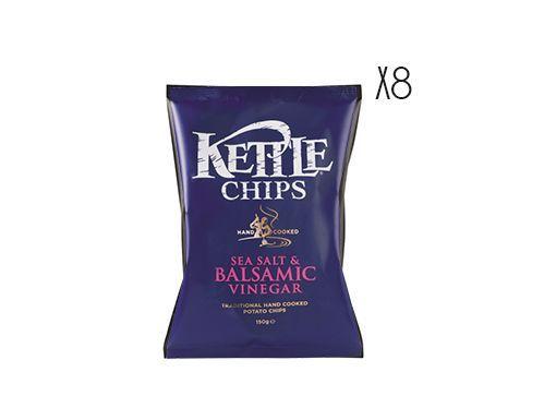 Patatas fritas con sal marina y vinagre balsámico de Módena Kettle 150 g