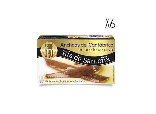Anchovies in olive oil Gold Serie 85g Ría de Santoña
