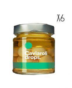 Aceitunas verdes esferificadas Caviaroli