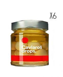 Aceitunas verdes picantes esferificadas Caviaroli