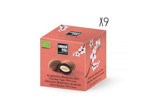 Amandes Marcona au chocolat 70% cacao bio Organiko