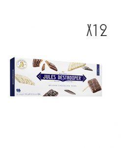 Biscuits de azúcar cande recubiertos de tres chocolates Jules Destrooper