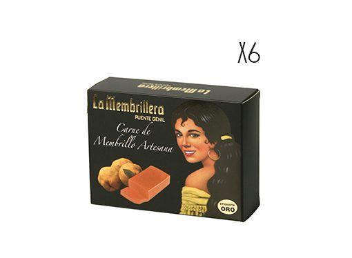 Carne de membrillo artesano Etiqueta oro La Membrillera 6 estuches de 250 g.