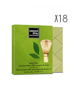 Chocolate blanco con té Matcha ecológico Organiko