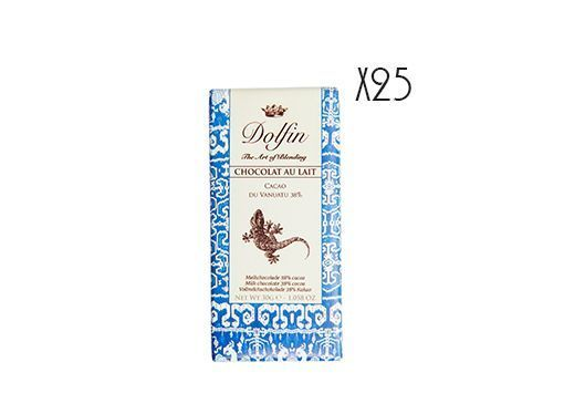 Chocolat au lait Vanuatu 38% cacao Dolfin