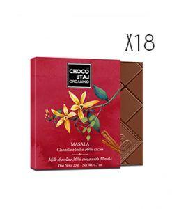 Chocolate con leche Masala ecológico Organiko