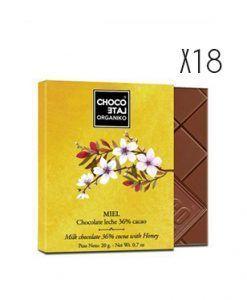 Chocolate con leche y miel ecológico Organiko