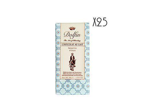 Chocolate con leche y avellanas de Italia Dolfin