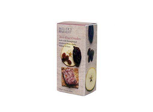 Crackers con manzana deshidratada, pasas y dátiles Miller's Haverst