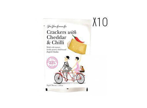 Crackers con queso Cheddar y chili The Fine Cheese
