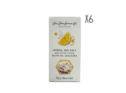 Crackers de aceite de oliva virgen extra, limón y sal The Fine Cheese