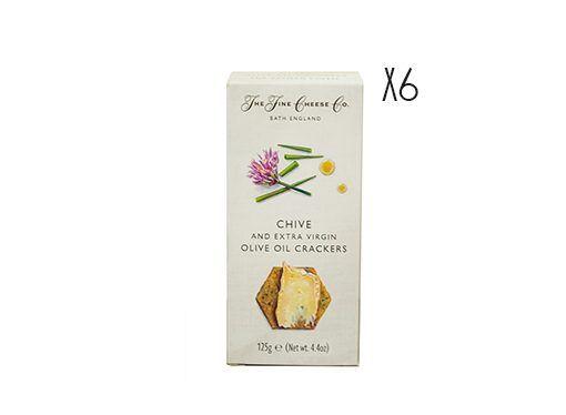 Crackers de aceite de oliva virgen extra y cebollino The Fine Cheese