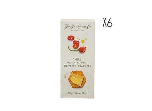 Crackers de aceite de oliva virgen extra y chili rojo The Fine Cheese