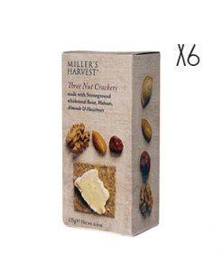 Crackers de avellanas, almendras y nueces Miller's Haverst