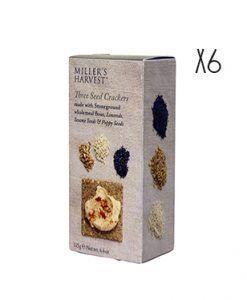 Crackers de semillas de linaza, sésamo y amapola Miller's Haverst