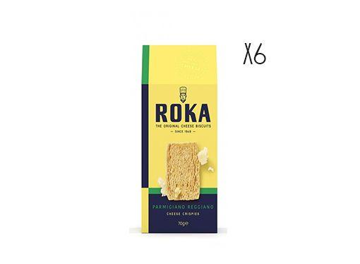 Galletas crujientes de queso Parmesano reggiano Roka