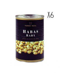 Habas Baby fritas en aceite oliva Torre Real