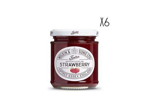 Confiture de fraises réduite en sucre Tiptree
