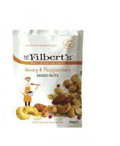 Mezcla de frutos secos con miel y pimienta Mr. Filber'ts