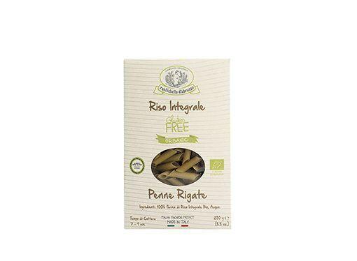 Penne Rigate de arroz integral sin gluten ecológica Rustichella d'Abruzzo