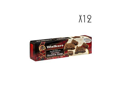 Shortbread Scottie Dogs de chocolate Walkers