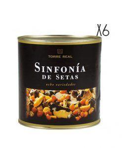 Sinfonía de 8 variedades de setas en aceite Torre Real 2,5 kg