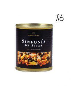 Sinfonía de 8 variedades de setas en aceite Torre Real 800 g