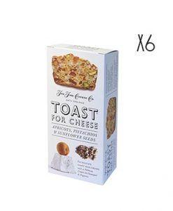 Tostadas con albaricoque, pistachos y semillas de girasol The Fine Cheese