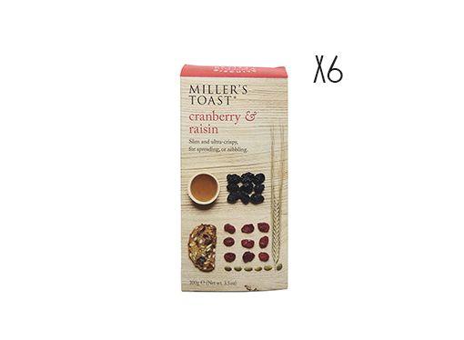Tostadas de arándanos y pasas Miller's Toast
