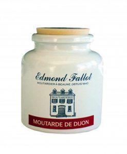 Dijon Mustard ceramic jar Edmond Fallot 6 jars of 250 g.