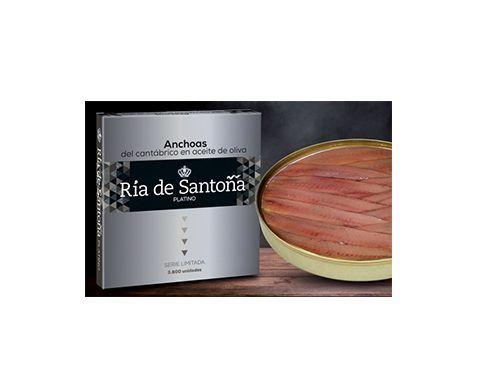 Anchoas Platino Ria de Santoña 12 filetes Edición Limitada,