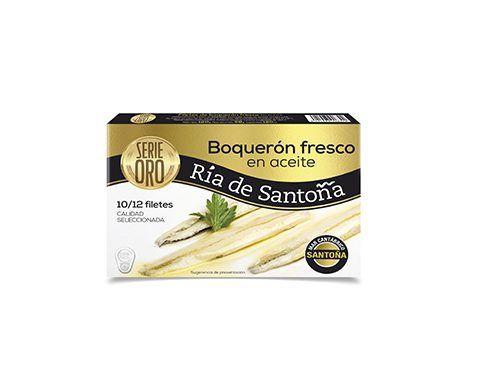 Boquerones del Cantábrico Serie Oro 10-12 filetes Ria de Santoña