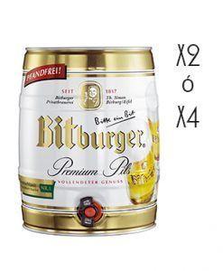 Cerveza Bitburger Pils Barril 5 litros