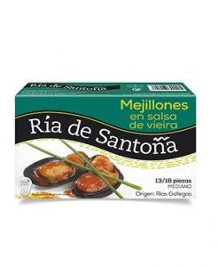 Mejillones de las rias gallegas en salsa de vieira Ría de Santoña