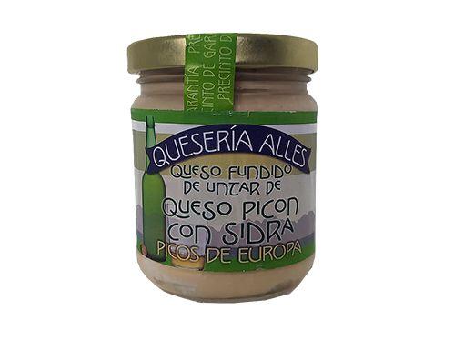 Crema de queso Picón a la sidra Picos de Europa Queseria Alles