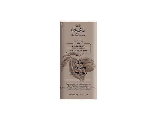 Dark chocolate70% with cocoa pieces Dolfin