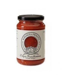 Organic fresh chopped tomato Mariangela Prunotto