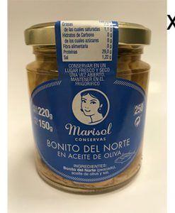 Bonito del Norte en aceite de oliva Marisol Pack 8 uds