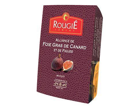Foie gras de pato entier con higos mi-cuit Rougié