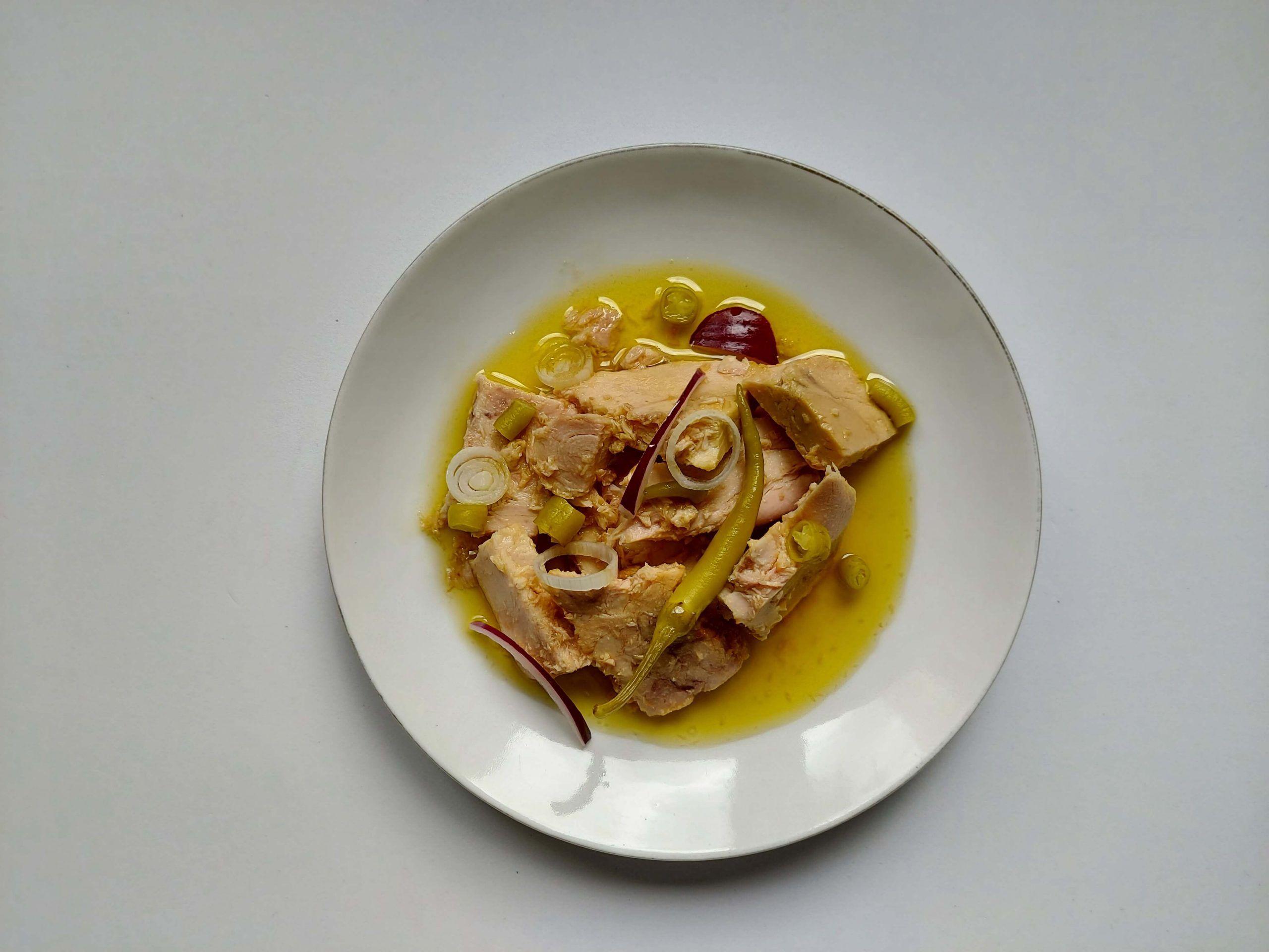 Organic white tuna in olive oil Arlequin 400 g.